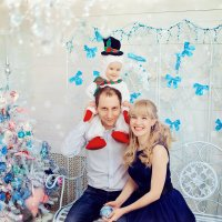 Новогодняя  семейная фотосессия  в студии :: марина алексеева