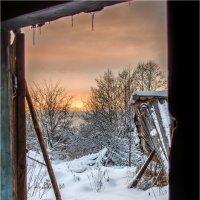 вид на закат из бани :: Николай Колобов