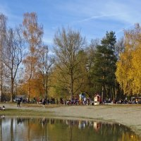 В теплый осенний день на озере. :: Galina Dzubina