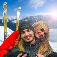 Молодожёны в Альпах :: Ломыч lomich