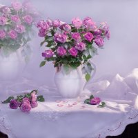 А розы...нежностью дышали... :: Валентина Колова