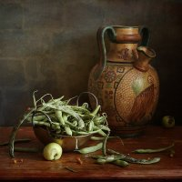 Натюрморт с зеленой фасолью :: Татьяна Карачкова