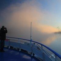 Туман на реке :: евгений васильев