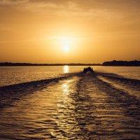 Закат на реке Ориноко :: Николай Бакс