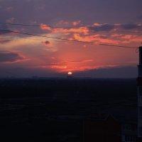 Закат над Краснодаром :: Наталья Петракова