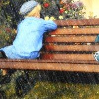 Однажды на скамейке... :: Ирина Жеребятьева