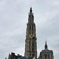 Силуэт Собора Антверпенской Богоматери виден издалека с любой точки города :: Елена Павлова (Смолова)