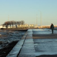 Декабрьская прогулка по Петергофу. Путь к причалу :: Вера Моисеева