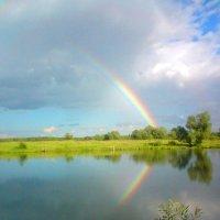 Пейзаж с радугой. :: Александр Атаулин