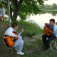 отдых в лагере на дневке-на сплаве :: Александр Прокудин