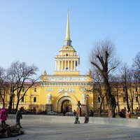 Главное Адмиралтейство, вид от фонтана Александровского сада :: Елена Павлова (Смолова)