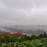Вид Праги от Вышеграда. Дождь. :: Юрий Воронов