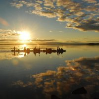 Карелия, река Охта, закат на Юляозере :: Валерий Толмачев