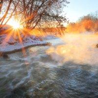 Рассвет зимней реки.... :: Андрей Войцехов