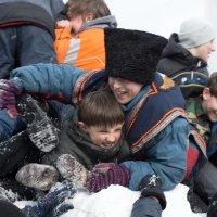 Масленица. Взятие Снежного Городка1. :: Андрей Борисенко