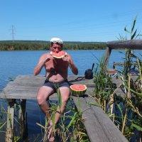 арбуз на рыбалке :: васек задунайский