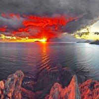 закат расправил крылья в небесах... :: viton