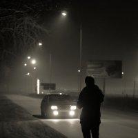 ночь..фонарь... :: Алена Галяева