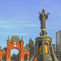 Александровская Триумфальная арка и памятник Екатерине Великой :: Игорь Хижняк