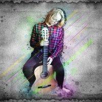 Юный гитарист... :: Алена Григоревская