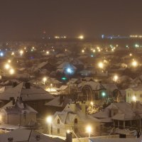 Ночной снежный Краснодар :: Андрей Майоров