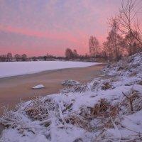 Январский закат над Дубной. :: Виктор Евстратов