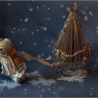 *как медведь Лукьян за елкой ходил или рождественская сказка* :: Misha McD