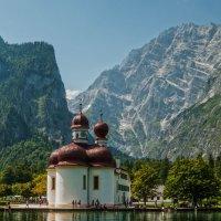 Церковь Св. Варфоломея на озере Кёнигзее :: Надежда Лаптева