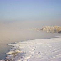 Туман над Енисеем :: Сергей Щербинин