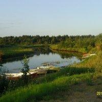 Пристань на реке Толба :: Виктор Мухин