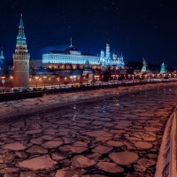 Зимний Вечер на Москва реке :: Влад Селезнев