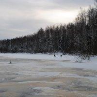 Замершее озеро. :: Виктор ЖИГУЛИН.