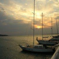 Море, яхты на закате. :: Анатолий