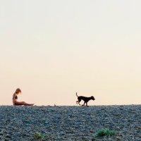 Девушка с собакой :: Роман Атемов