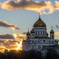 Храмы на закате :: Константин Бобинский