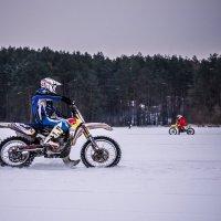 Зимние мотогонки. :: Наталья Лысенко