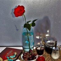 Чайный натюрморт с розой :: Сергей Чиняев