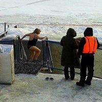 Крещенские купания на Оке 3. :: Борис Митрохин