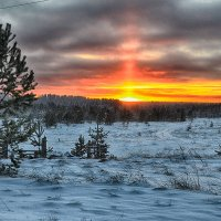 зимний закат :: Александр Преображенский