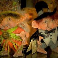 В хрустальном лесу среди сказочных сов  Варил гном варенье из красочных снов... :: Галина