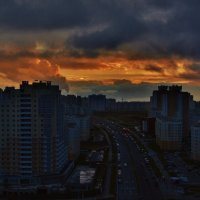 ЗАКАТ НАД НЕМАНСКОЙ :: Валерий Руденко