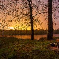 Весенний дождь на реке Хопер :: Алена Бадамшина
