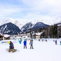 Горные лыжи. :: Геннадий Оробей