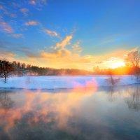 Очень морозный закат...3 :: Андрей Войцехов