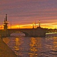 закат над Троицким мостом :: Елена