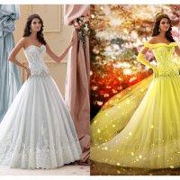 до и после образ диснеевской принцессы Бэлла :: Veronika G