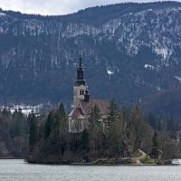 Церковь Успения Божьей Матери на оз. Блед, Словения :: Александр Щербаков