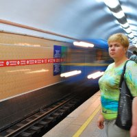 В метро :: Elena Balatskaya