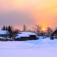 Зимний вечер в деревеньке :: Вячеслав Минаев