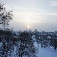 Вид на Подольск с кургана, насыпанного около церкви :: Елена Павлова (Смолова)